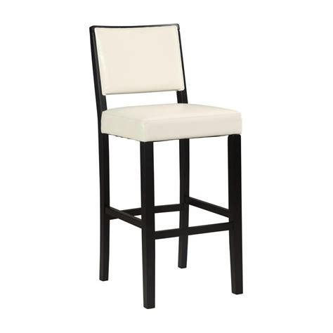linon home decor zoe 30 in white cushioned bar stool