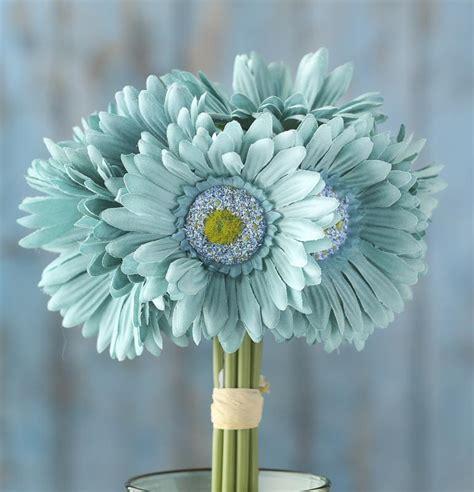 artificial silk flowers gerbera teal teal artificial gerbera daisy bouquet bushes and
