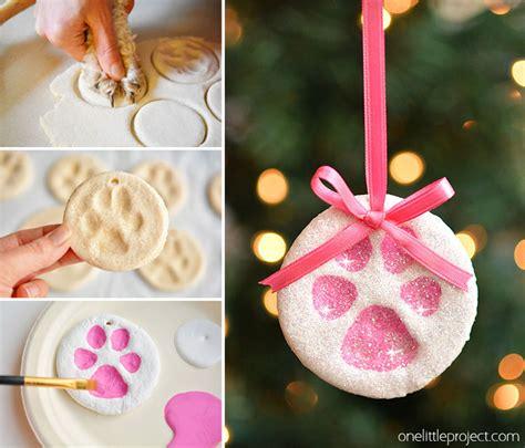 ornament dough paw print salt dough ornaments one project