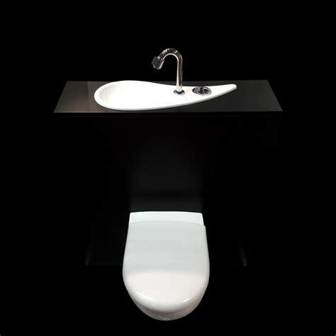 wc suspendu geberit avec lave mains design configuration
