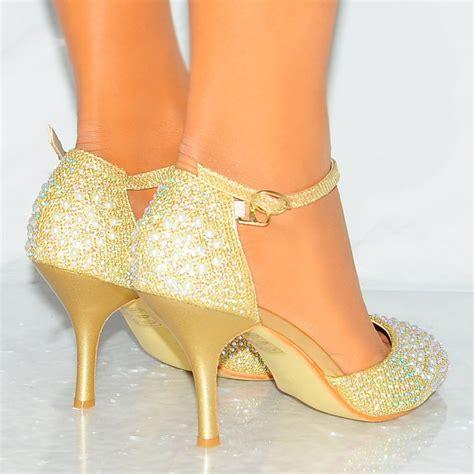gold high heel sneakers gold diamant 233 pearl ankle kitten high heel