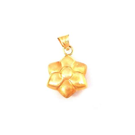 fiore portafortuna ciondolo oro