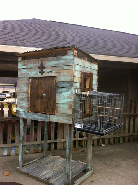 i built this pigeon loft out of wooden pallets and