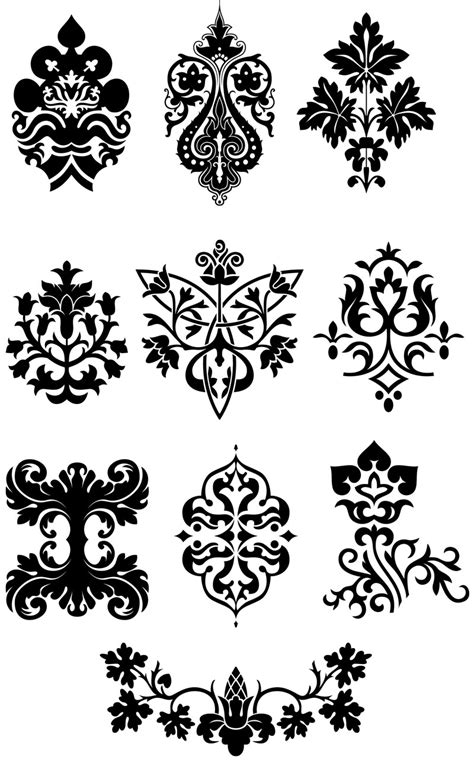 svg pattern style ornaments free stock vector art illustrations eps ai