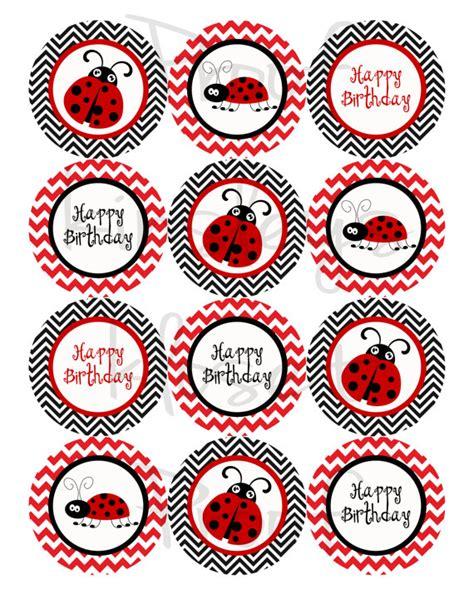 make printable ladybug birthday banner rojo y negro ladybug partido cupcake toppers lady bug