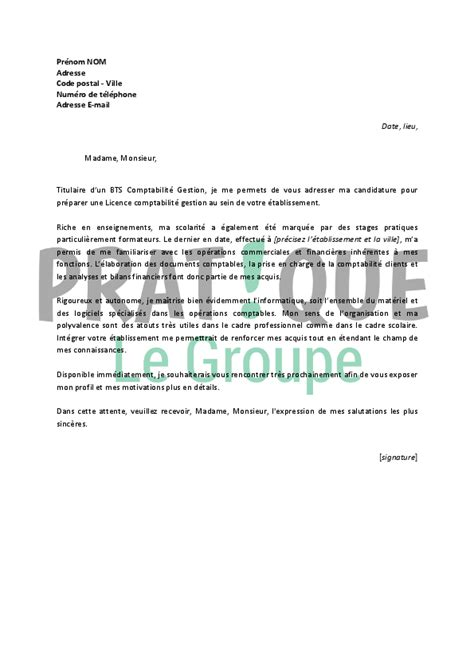Exemple De Lettre De Motivation Licence Economie Gestion Lettre De Motivation Licence Gestion Employment Application