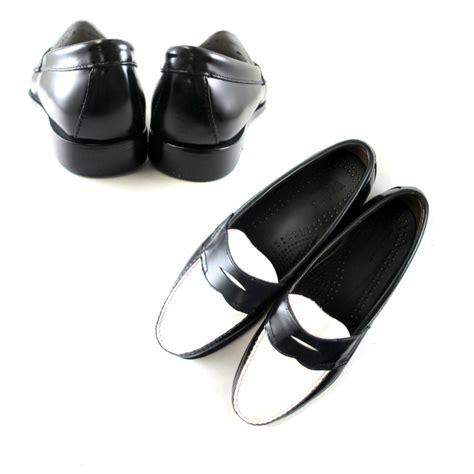 black and white loafers mens footmonkey rakuten global market leather shoes s