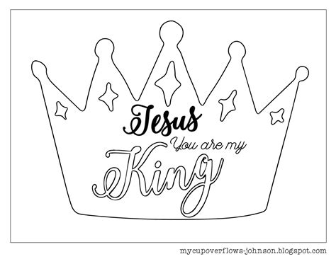 coloring pages jesus is king my cup overflows inspirational coloring pages