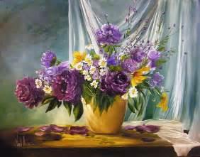 Design Of Vase Painting Gambar Menanam Ungu Vas Flora Masih Hidup Karya