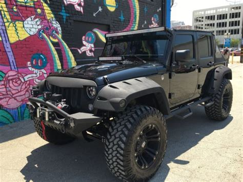 custom black jeep 2016 custom jeep wrangler unlimited black edition