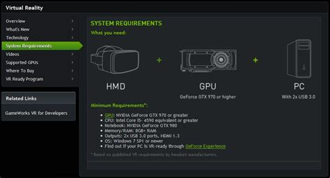 minimum ram requirements for windows 7 ces sheds light on pc specs for htc vive htc source