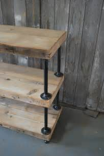 industrial reclaimed wood shelves 3 shelves or