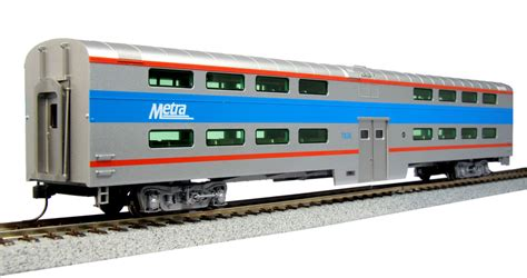 bi level ho scale bi level passenger cars kato usa precision railroad models