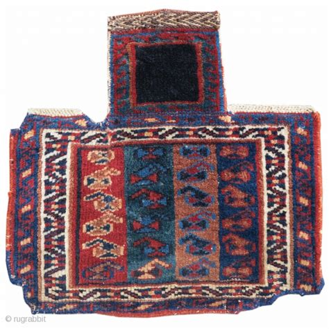 pap rugs this small pile afshar salt bag draws bands of paisleys against a ground of four different