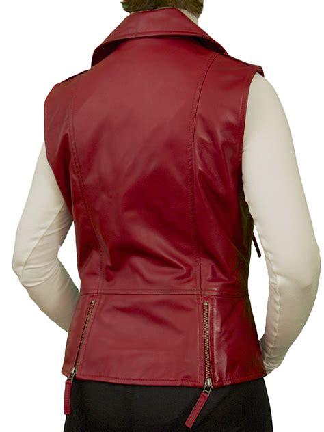 leather waistcoat biker womens leather gilet waistcoat biker style tout ensemble