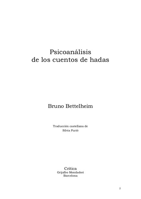 psicoanlisis de los cuentos bettelheim bruno psicoan 225 lisis de los cuentos de hadas pdf