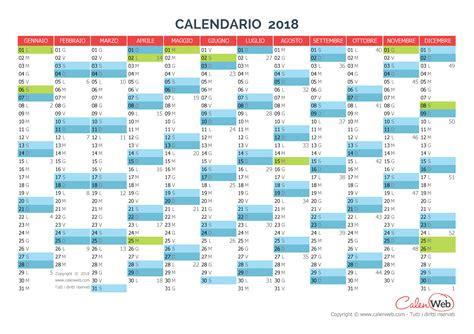 calendario annuale anno 2018 con le festivit 224 italiane