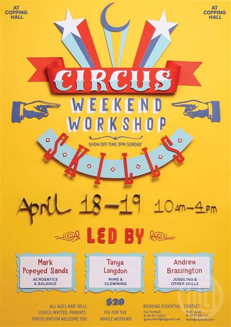 Handmade Poster Ideas - workshop poster and design on
