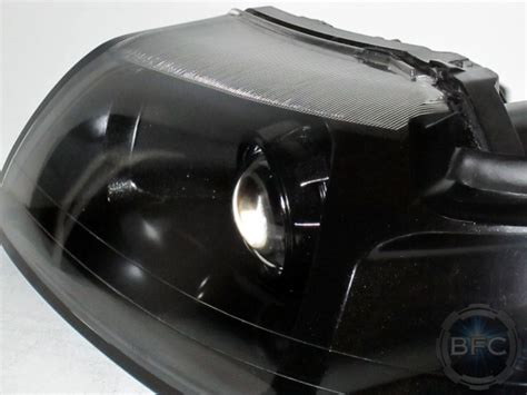 ford mustang cobra  black hid projector retrofit headlights blackflamecustomscom