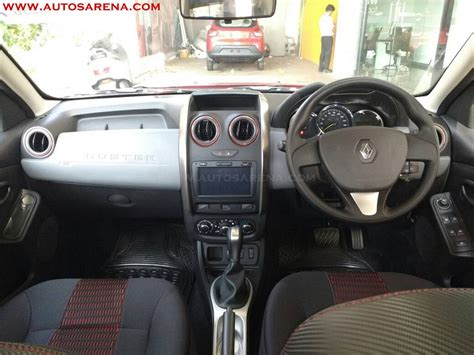 renault duster xtronic cvt interior spied at dealership