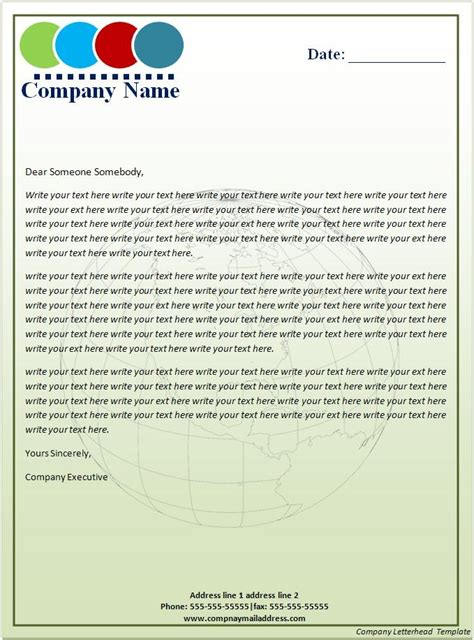 How To Make A Company Letterhead Free Printable Letterhead Company Letterhead Template