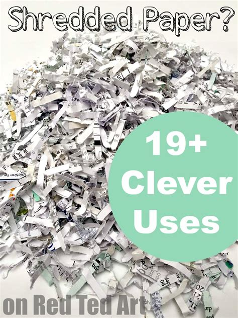 How To Make Shredded Paper - great uses for shredded paper some really clever