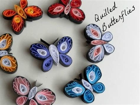 Paper Quilling How To Make - how to make quilled butterflies 187 paper quilling designs