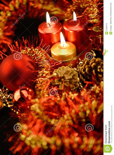 festive decorations festive decorations with candles