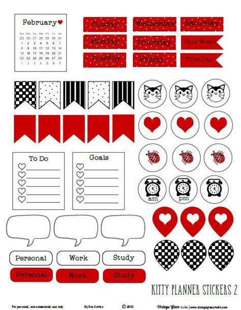 printable white stickers 202 best free printable planner stickers images on