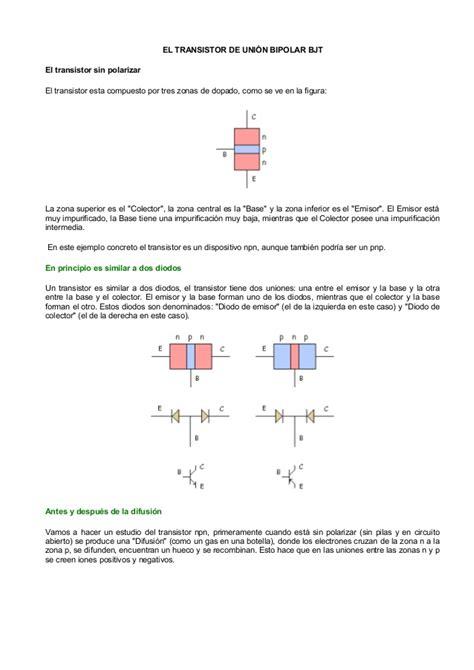 transistor bipolar definicion el transistor de uni 243 n bipolar bjt