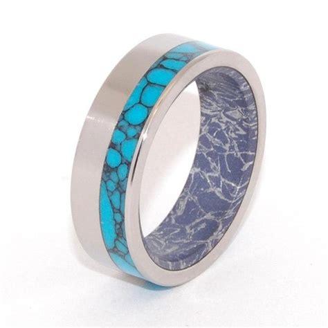 titanium wedding band wooden wedding ring titanium