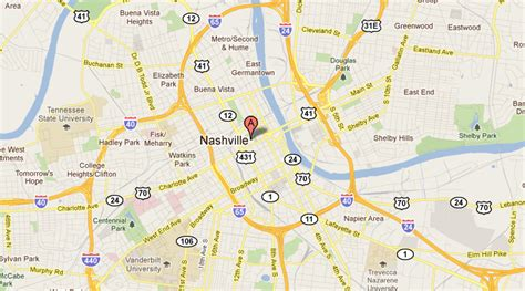 downtown nashville map last impressions 10cities 10years