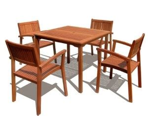 VIFAH V1104Set1 Outdoor Wood 5 Piece Dining Set   Best