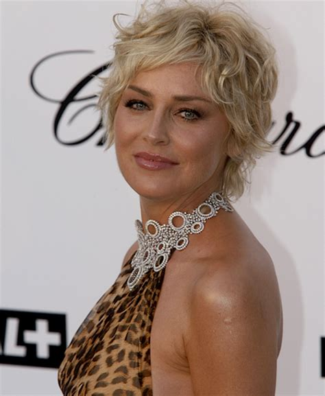 sharon stone short hair on round face sharon stone pixie shag short hairstyle 2013