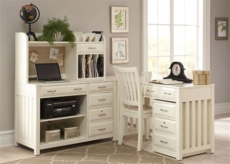 hton bay white home office set from liberty coleman
