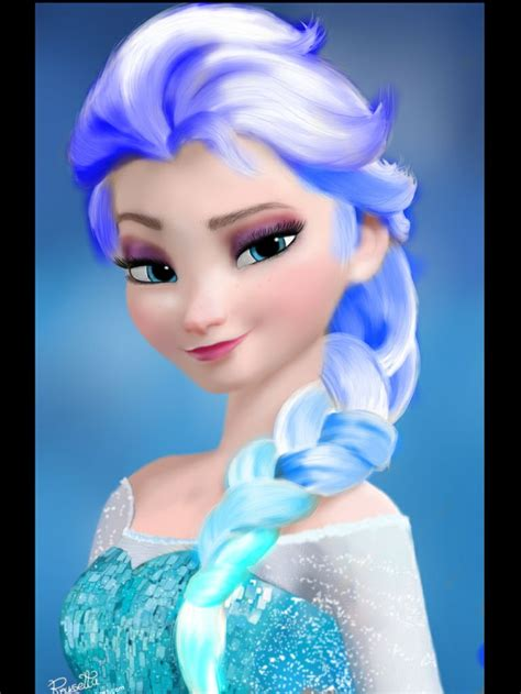 Elsa Button Hairclips blue hair elsa frozen elsa hair and water