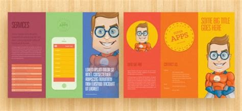 template untuk brochure 30 desain brosur flyer template download gratis vector psd