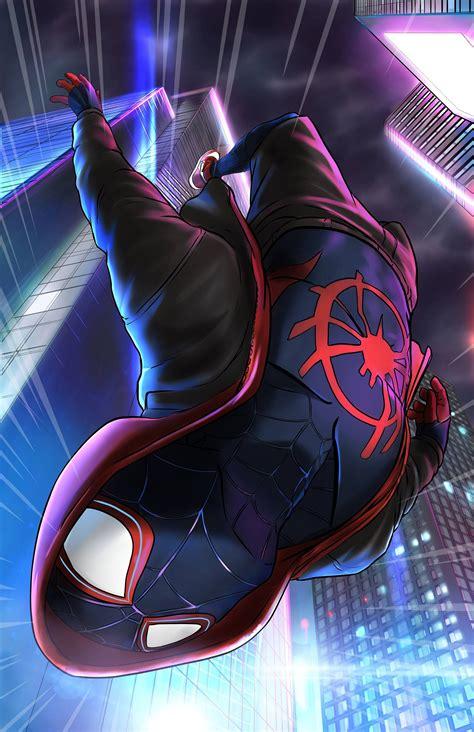 miles morales itsv spiderman black spiderman chibi marvel