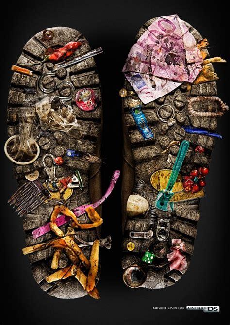 Ads Shoes Led Size 20 25 30 creative shoe advertisements