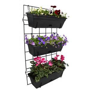 Vertical Garden Pots Whites Outdoor 3 Pot Garden Up Vertical Garden Set