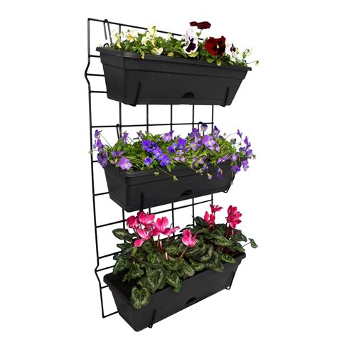 whites outdoor 3 pot garden up vertical garden set