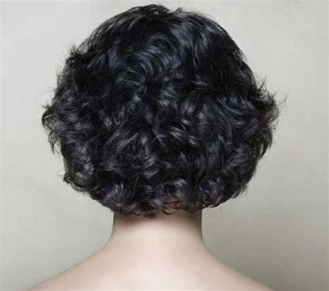 back view wavy short bob for thick hair 2015 back view short curly hairstyles short curly hair