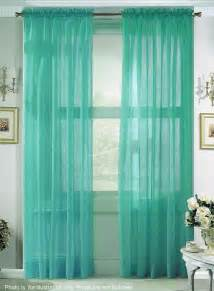Turquoise Sheer Curtains Sheer Turquoise Curtains Put Another Fabric W Pattern Home Curtains