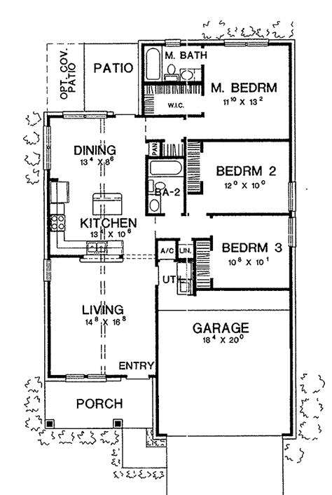 3 Bedrooms Bungalow Floor Plan And Photos Joy Studio House Plans 1 Bedroom Bungalow