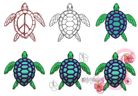 tattoo flash turtle 6 best tribal turtle tattoo designs and ideas