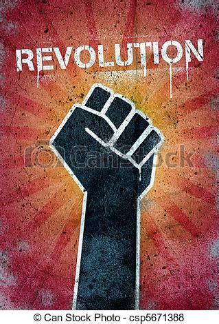 revolution graffiti   wall  black raised fist