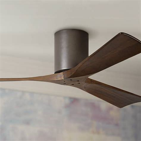 wall hugger ceiling fan rustic lodge wall control ceiling fans ls plus