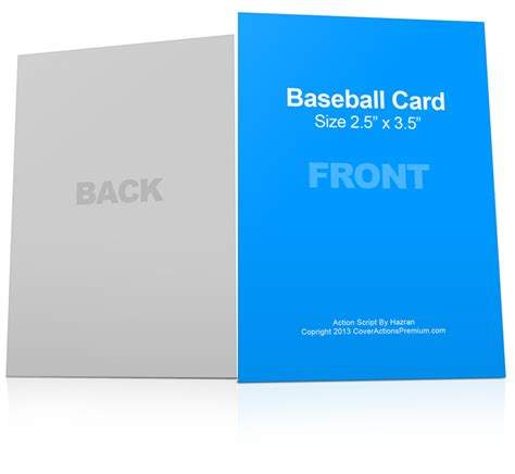 baseball card mock ups cover actions premium mockup