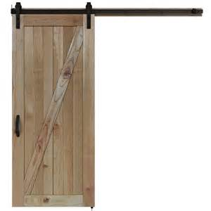 jeld wen 36 in x 84 in rustic unfinished wood barn door
