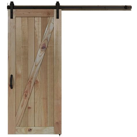 barn door home depot jeld wen 36 in x 84 in rustic unfinished wood barn door